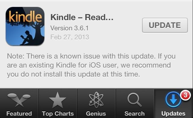 New Kindle For iOS Update Deletes Your Entire Book Library