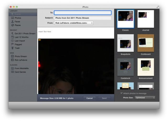 iPhoto Email