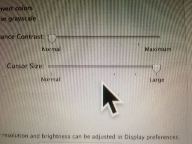 Make Your Mac's Mouse Cursor Huge And Never Lose Track Of It