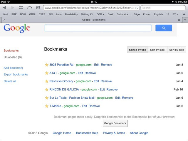 Google Bookmarks 001