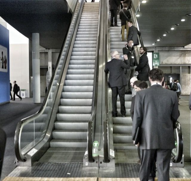 "Hey, sheeple! Those are both ""up"" escalators."