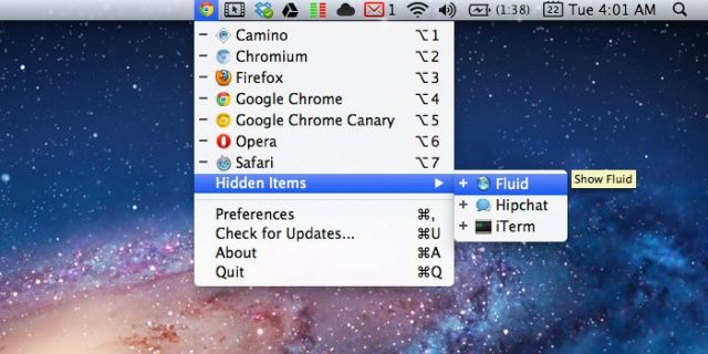 Objektiv Menu Bar