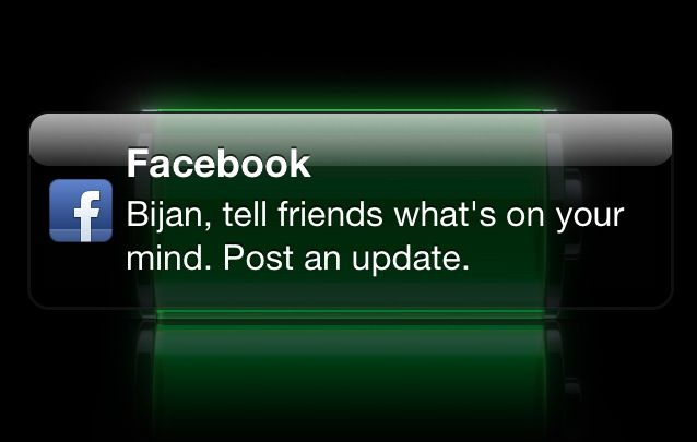 Facebook-status-notification