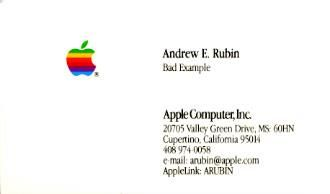 Former android chief andy rubin still has his apple business card former android chief andy rubin still has his apple business card from the 90s image colourmoves