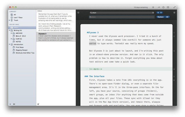 Ulysses 3 Might Be The Mac's Best Text Editor [Preview