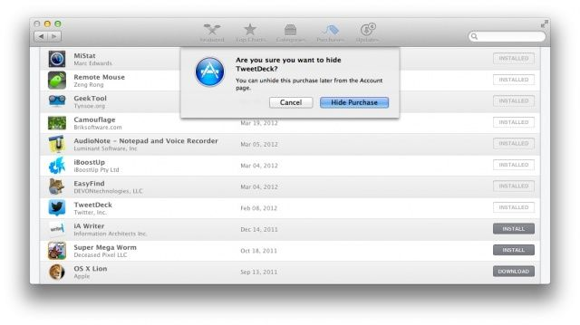 Find Those Hidden Purchases In The Mac App Store [OS X Tips