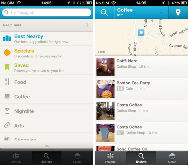 Foursquare-screenshots