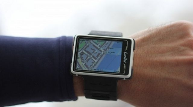 What Maps might look like on the iWatch.
