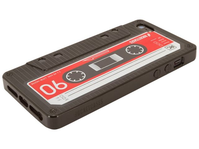 An iPhone 5 masquerading as a cassette tape.