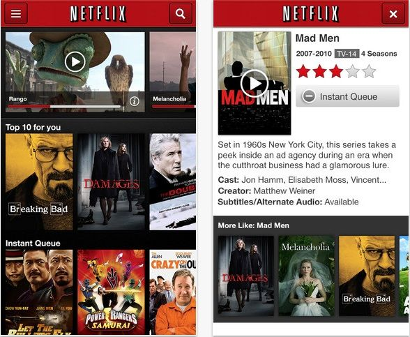 netflixappselection