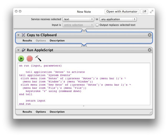 System Service To Save Text to Notes app In Mountain Lion