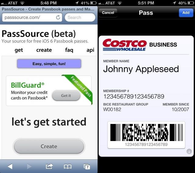 add unsupported passes cards and tickets to passbook
