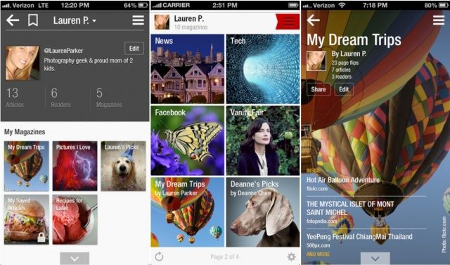 Flipboard Update Delivers New Profile Pages, Friends