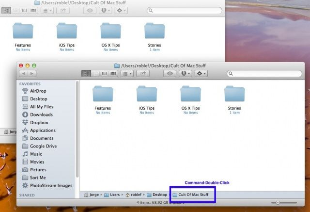 Easily Open A Second Finder Window From The Same Folder Os X Tips