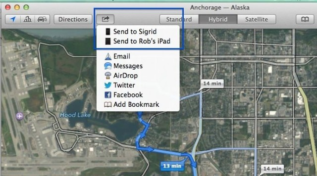 Maps To iOS Device