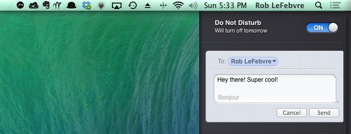 Notification Center To Messages
