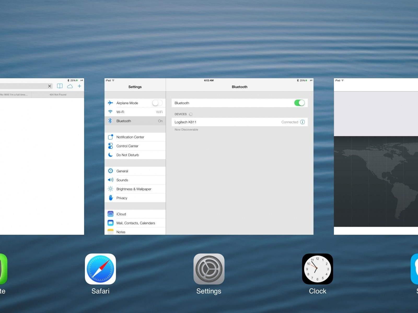 Multitasking iOS 7 Beta