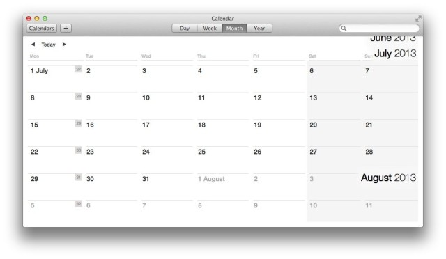 Calendar Continuous Scroll