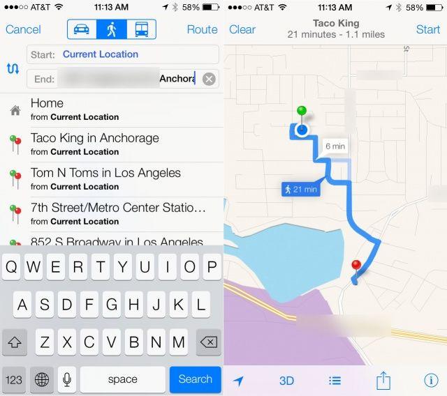 turn by turn maps ios 7