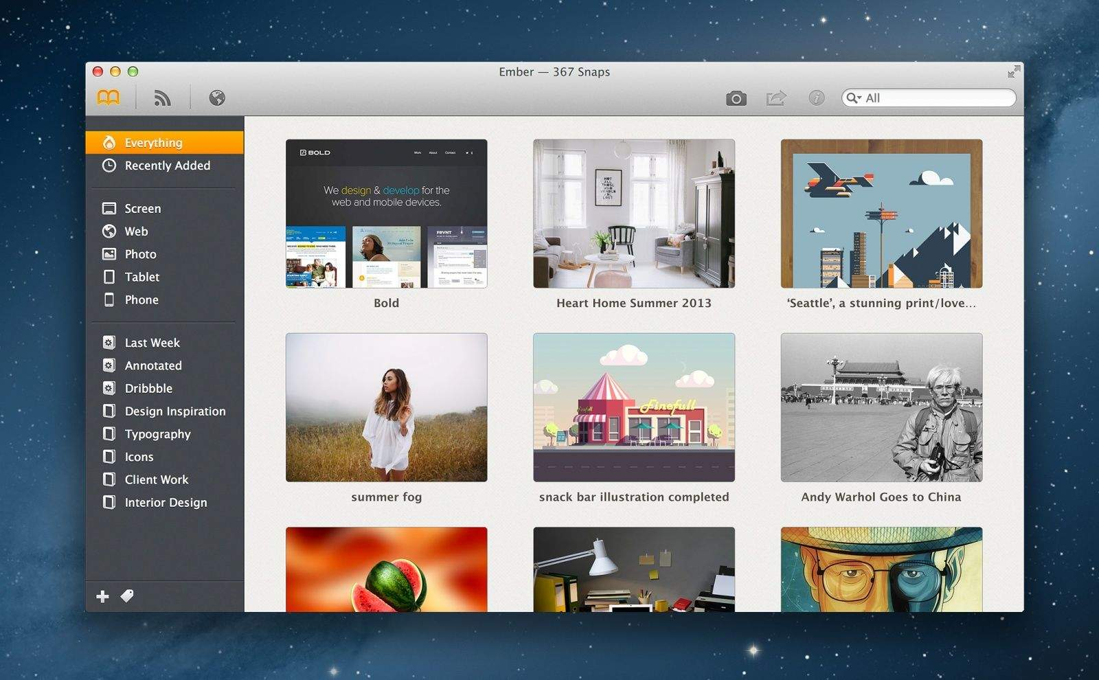 Ember The Digital Scrapbook For Your Mac From Realmac Software Is