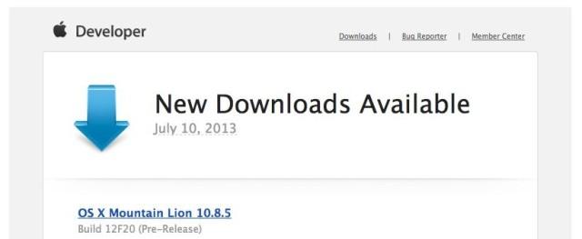 OS X Mountain Lion 10.8.5 Seed