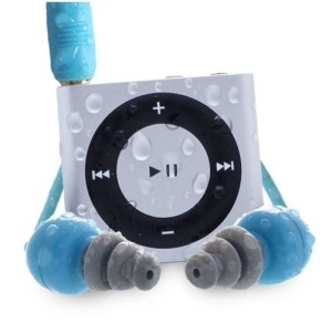 Waterproofed, the iPod Shuffle is only as good as the seal of your earbuds.