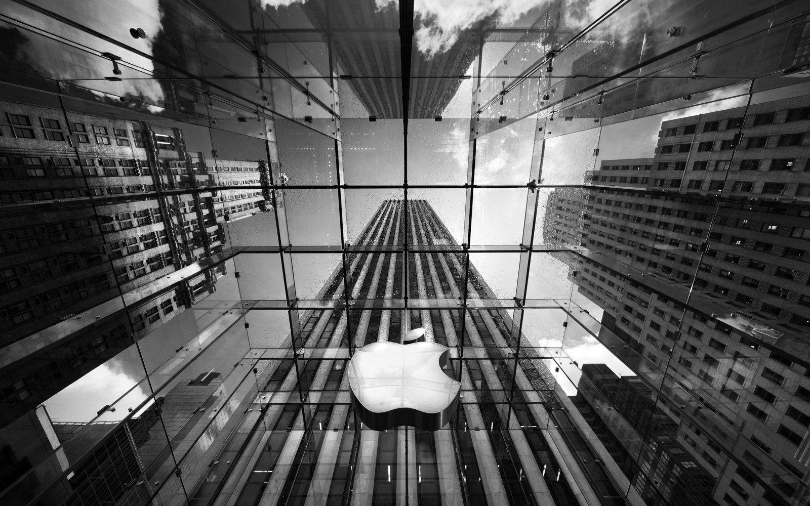 apple_sign_on_building_in_black_and_white-wide