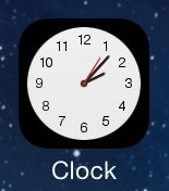 The Clock app has a live icon in iOS 7.