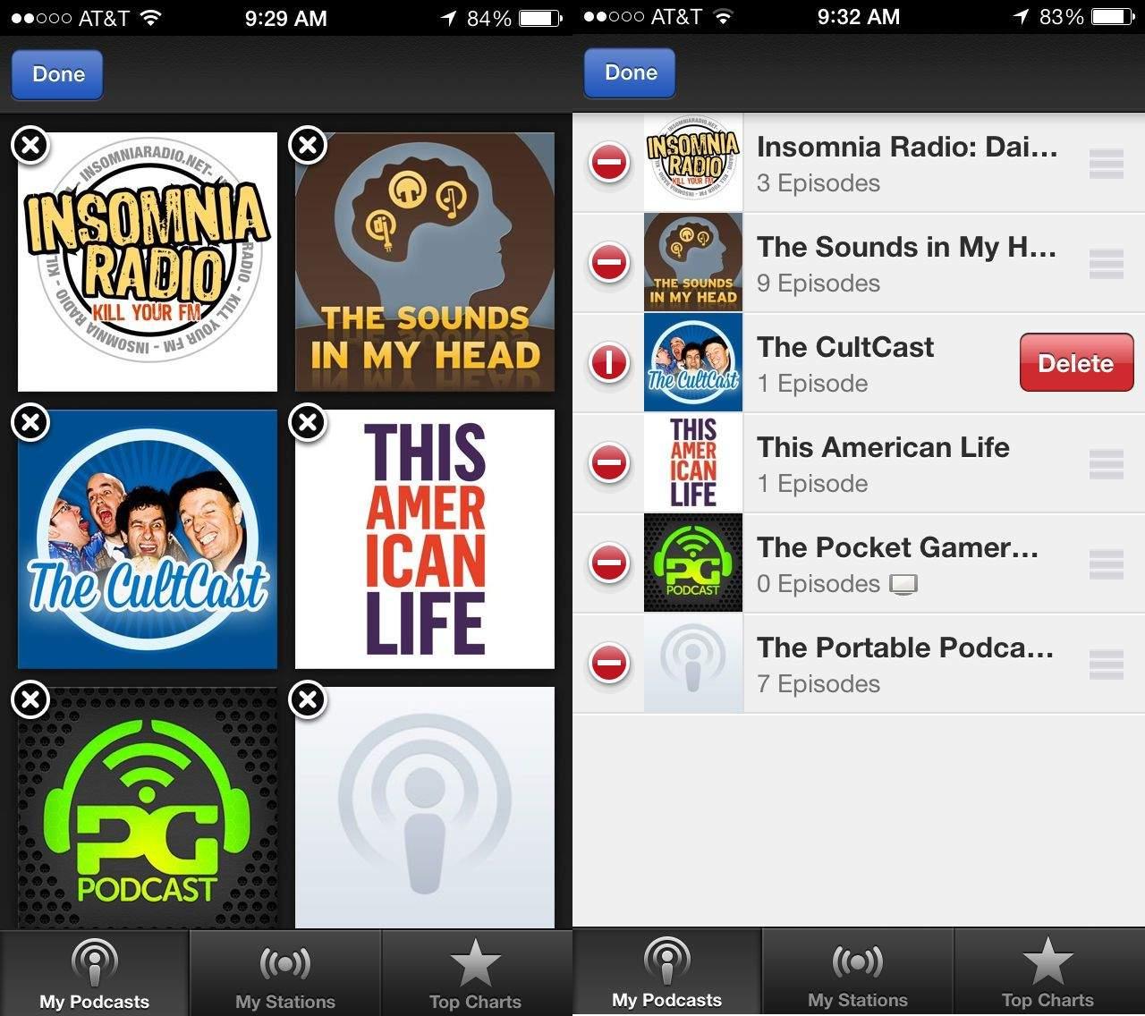 Delete Podcasts