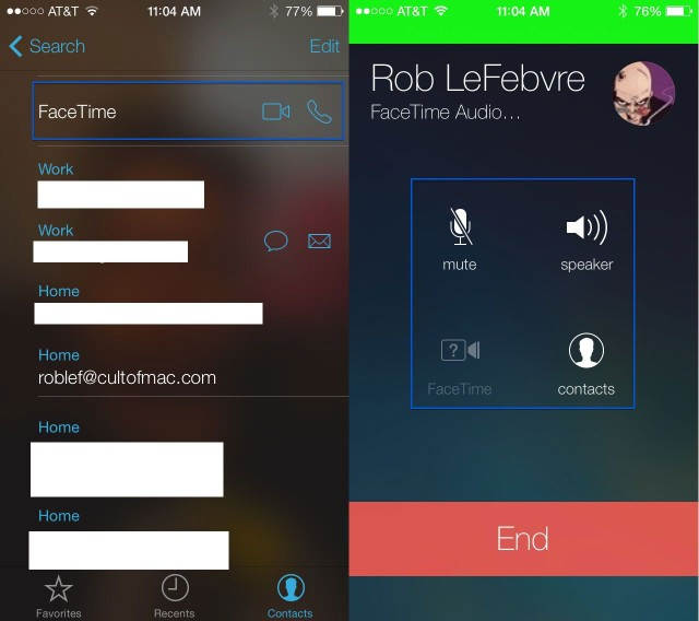 Make Audio-Only Facetime Calls With iOS 7 Beta [iOS Tips