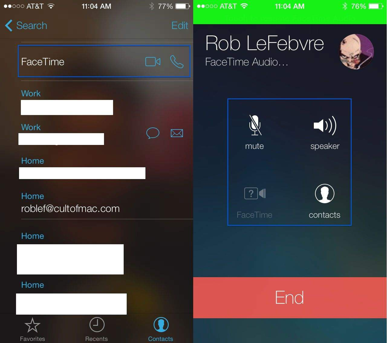 facetime audio-only