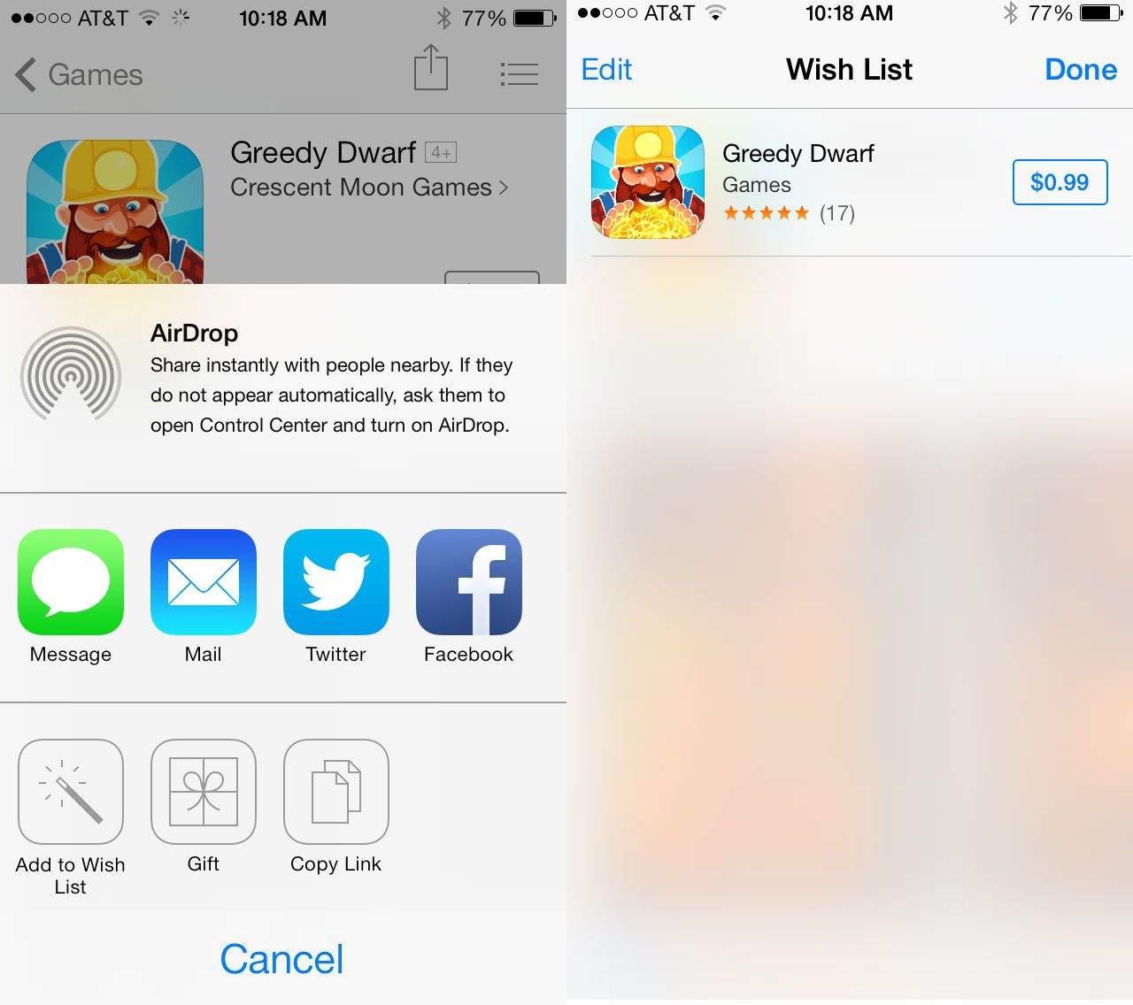 iOS 7 Wshlist Splash