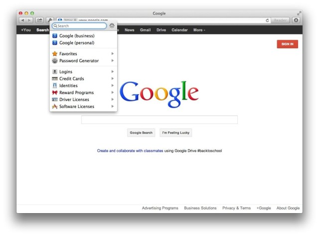 1P4 Mac Browser extension