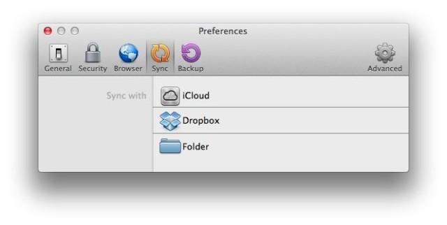 1P4 Mac Sync iCloud Dropbox