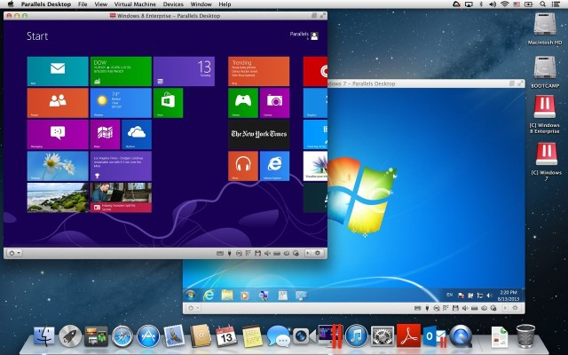 Windows on a mac: a parallel view.