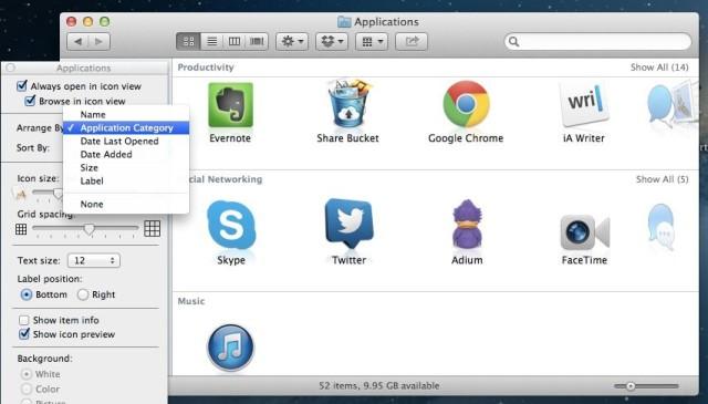 Application Type Arrange In Finder