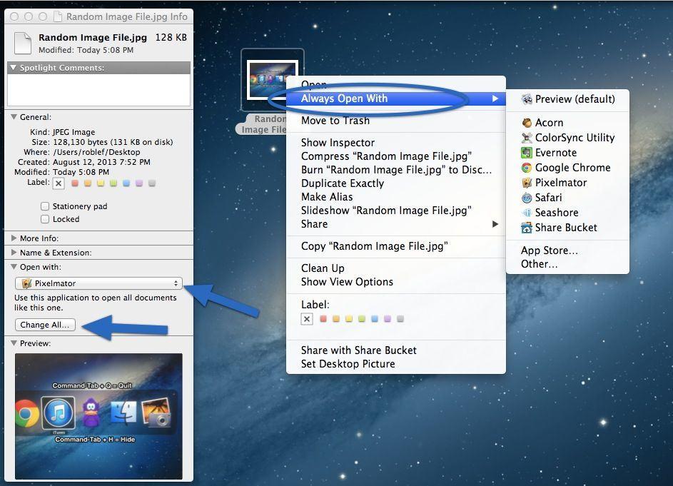 Change Default App File Type
