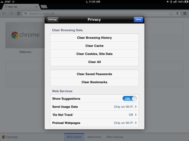 Protect your privacy clear cache files browsing history and protect your privacy clear cache files browsing history and cookies from chrome ios tips ccuart Choice Image