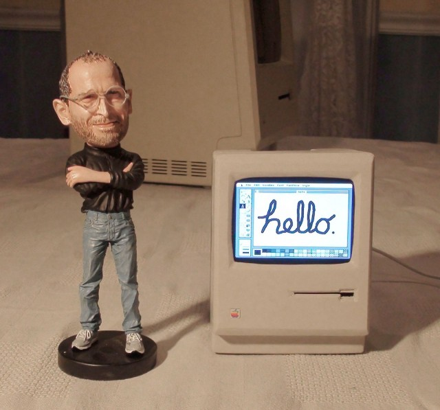 Mini Mac and Steve Jobs Doll