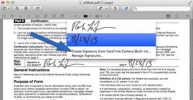 How To Sign A PDF Form On Your Mac Without Printing It [OS X
