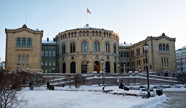The Parliament of Norway in Oslo