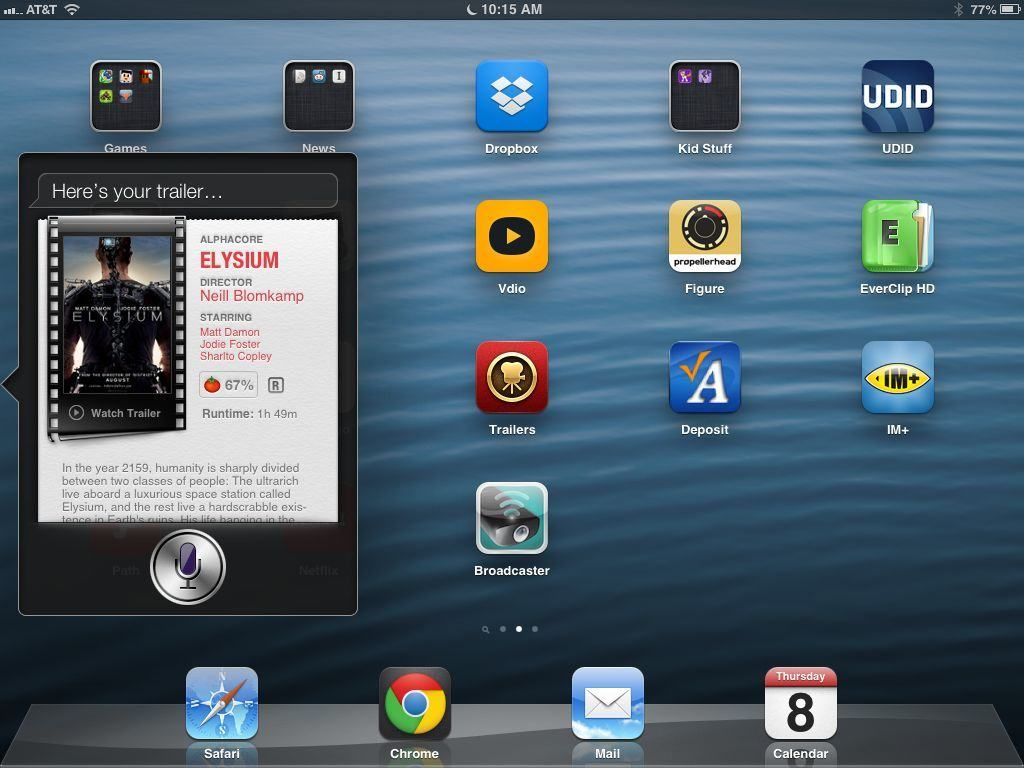 Siri Movie Trailers iPad
