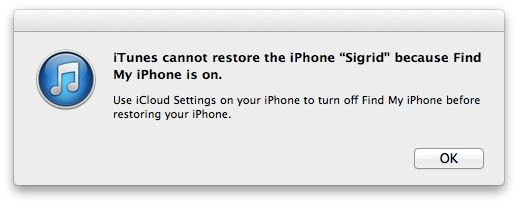 turn find my iphone off downgrade and restore your ios 7 beta iphone to it s 6557