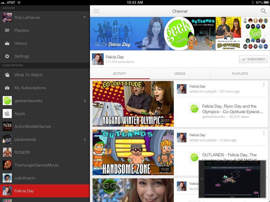 YouTube PIP