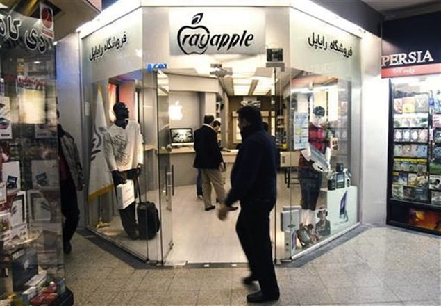 RadanMac is one of the many stores in the Iranian capital that unofficially sells Apple products openly.