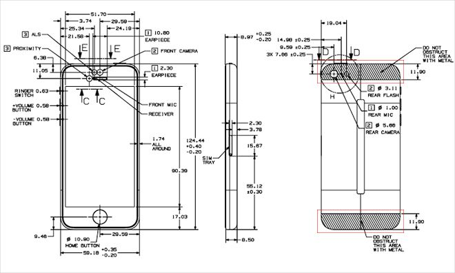 apple posts detailed iphone 5s  5c schematics online