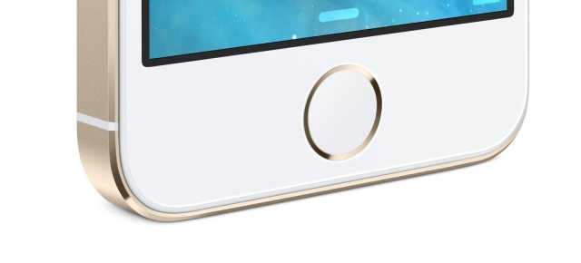 5s home button gold