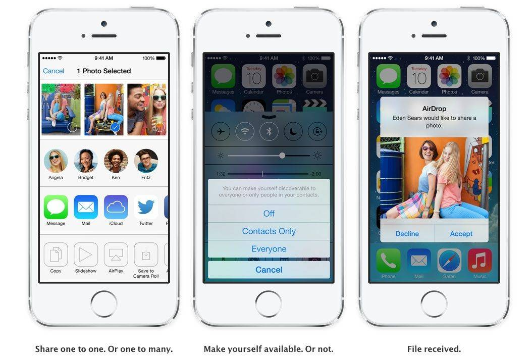 All The New IOS 7 Features You Need To Know About For AirDrop