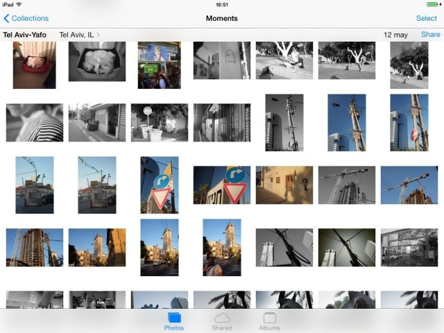 The Photos view make it possible to actually find your photos again.