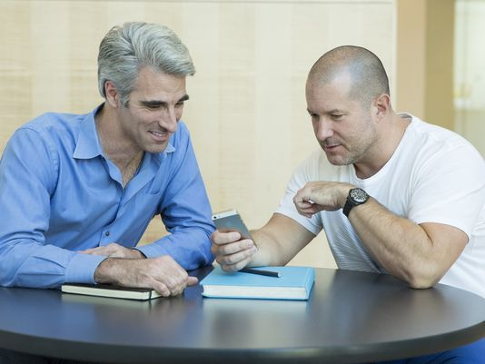 Jony Ive with Craig Federighi, Apple's senior vice president of software engineering. (Photo: Apple)